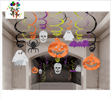 Holloween Hanging swirl decorations holloween party supplies novelty items