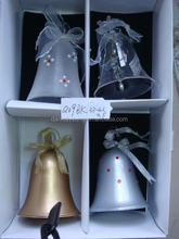 Wholesale cloche glass bell jar dome with gift box for xmas tree decorations