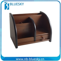 Wooden desktop cell phone holder/ remote control holder
