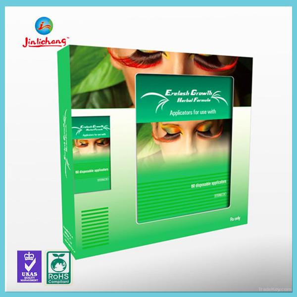 custom clear paper transparent plastic packaging box