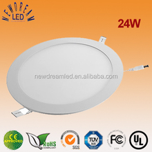 24W ultra thin round surface mounted led panel light 300x300 mm for house use
