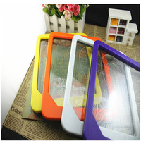 2015 New kids writing board ABS frame acrylic panel tablet battery powered portable wireless led message board