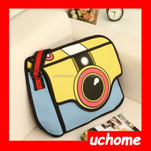 UCHOME Hot Sale Jump Style 2D Drawing Paper Bag Comic 3D Camera bag Wholesale