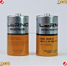 r20 size d dry cell battery 1.5v from shenzhen leakproof 1.5V R20 Dry Battery