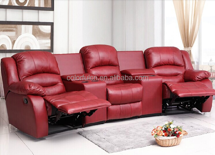 Home Theater Recliner Sofa/home Cinema Leather Sofa/home Cinema Sofa ...