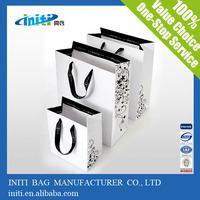 logo design white paper shopping bag, customized promotional paper shopping bag, custom made paper shopping bag printing