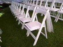 White Fold Up Americana Chair