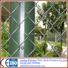 Valor Factory Plastic Coated Galvanized used chain link fence post for made in china