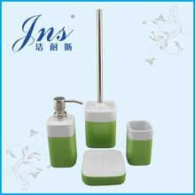 Lime green stoneware bathroom accessories square, bathroom accessories set