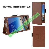High Quality Flip Stand PU Leather Case for Huawei MediaPad M1 8.0