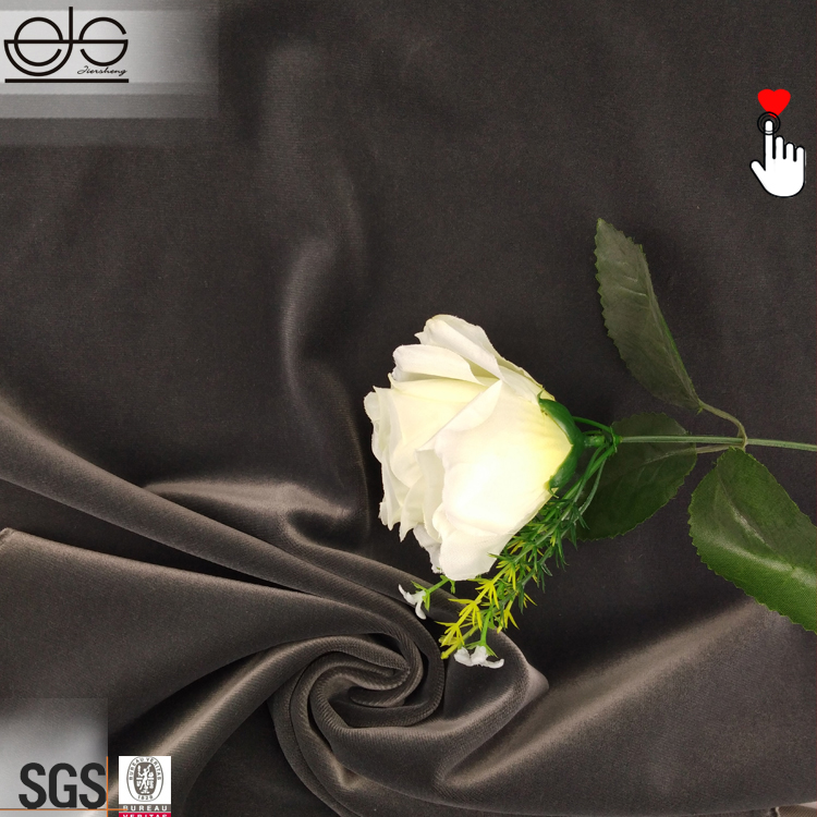 Barato negro color corto de terciopelo tela material para venta