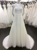 Simple Design Scoop Neckline Sleeveless Beadings Beach Casual Wedding Dresses Patterns with Sexy Transparent Back A030