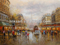 Good quality impressionist paris street oil paintings