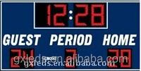 New product simplified led interactive basketball scoreboard time clock scoreboard