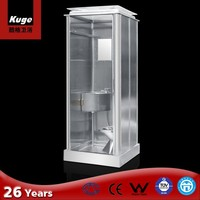 Kuge stainless steel ready made bathroom