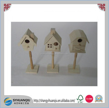 Wild Bird Nest Box Natural stick Roof Bird House Garden Accessory