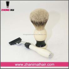 2015 hot selling men shaving brush set , luxury badger hair shaving brush