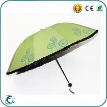 Proveedor China nuevo 2015 venta al por mayor la moda de mano paraguas Parasol