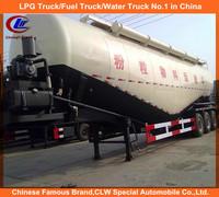 2015 top ranking tri axles 55cbm dry bulk powder cement tank semi trailer with air compressor