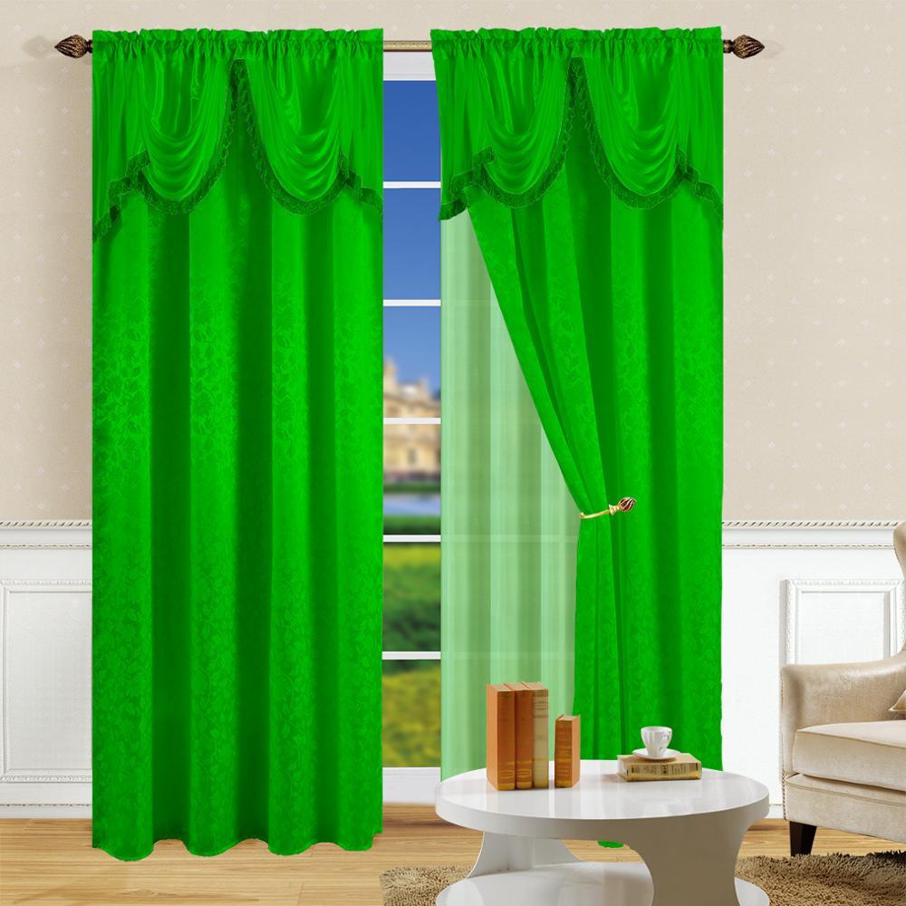 Venta de la fábrica jacquard cenefa cortinas botín, satén ventana cortinas de la Sala Valance
