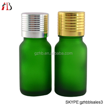 free samples hot selling green frosted cosmetic glass dropper bottle glass jar with aluminium cap alibaba china