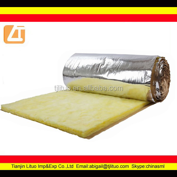 Fiberglass wool insulation 32kgm3 glass wool blanket buy for Glass fiber blanket insulation
