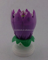 happy birthday rotating amazing musical lotus opening flower candle