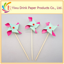2015 most popular wooden windmill party sticks