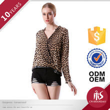 Shandao Stylish Leopard Pattern Models For Ladies Blouses