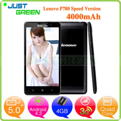 New Lenovo phone mobile P780 android 3g mobile phone 5 inch MTK6589 Quad Cores 1GB 8GB Android 4.2 low price china mobile phone