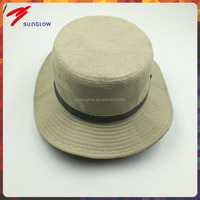 Custom fashion high quality men's plain bucket hat