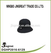 2015 para mujer de moda sombrero cloche 100% lana sombreros de fieltro para mujeres