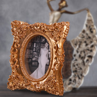 2015 resin luxury abstract picture frame high end gold stereoscopic 4x6 5x7 european resin sex girl adjustable foto frame 001
