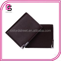 Wholesales Newest Fashion Simple Cheap Leather Men's Wallet