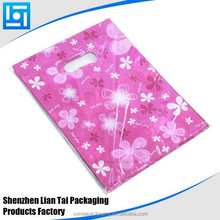 custom punch hole Christmas plastic bag with elastic