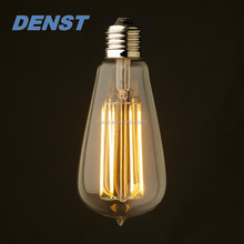 E26/E27 ST64 Squirrel Cage Antique Decorative LED Filament Edison Bulb,4W 6W 120lm/W
