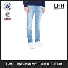 High quality new design men fashion kevlar denim regular-fit faded-wash jean