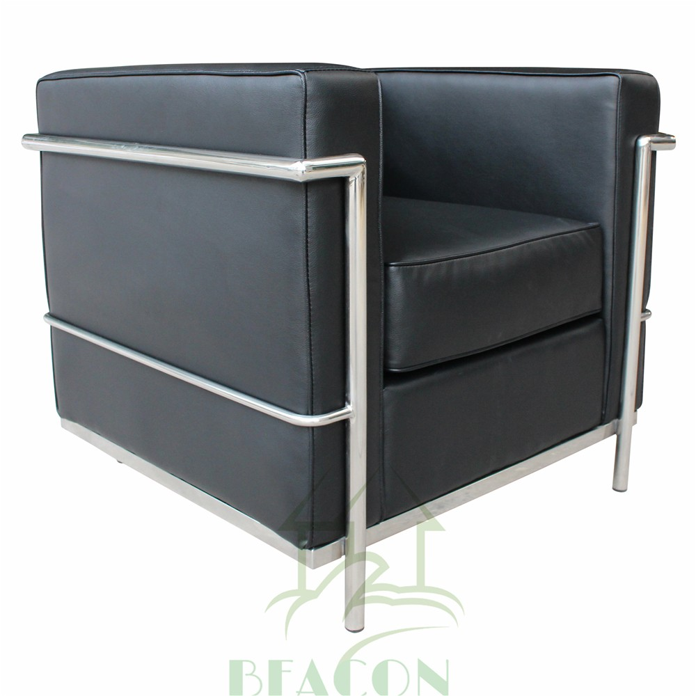 Реплика офисной мебели, кожа LC2 одноместный диван-кресло