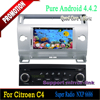Car dvd player with Radio GPS Navigation system for Citroen C4 2004-2010 Android 4.4 quad core support reversing camera
