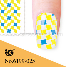 2014 spring french manicure tip stamp stickers