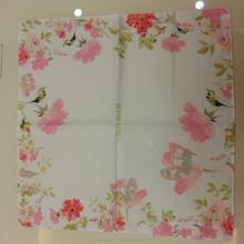 High quality wholesale digital print flower 100% cotton table napkin folding
