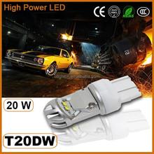 Hottest sale cr ee T20 20W led car Backup Lights, w21/5w car led light bulbs