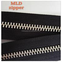 10# plating metal zipper longchain,large metal teeth zipper roll,white sliver metal zipper yard