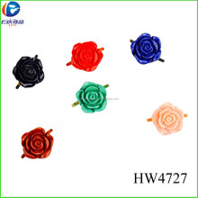 HW4727 flower shape resin decorative high heel shoes buckle for children
