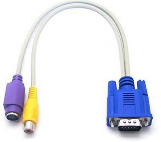 colorful VGA RCA S-Video AV Adapter Converter Cable made in china