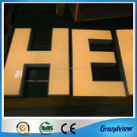 outdoor LED illuminated letter sign