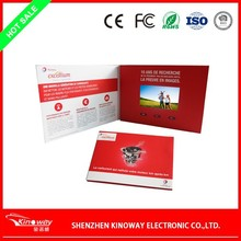 LCD video brochure card/invitation video greeting card/chinese sex video card