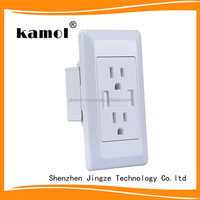 high quality factory price electrical wall socket dual usb ports for smart phones work