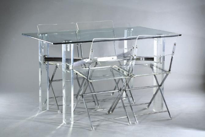 Cologique de haute qualit effacer plexiglas table for Table a manger pliable