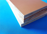 Popular aluminium foil faced wood plywood for kitchen cabinet using water-based paint 2015years new